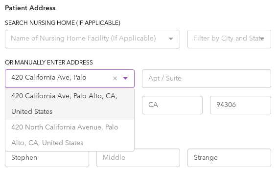 Address Autocomplete